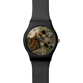 AudubonのRuffedライチョウのトリオの絵画 腕時計