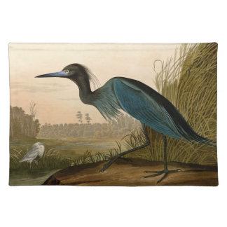 Audubonアメリカの青いクレーン鷲の鳥 ランチョンマット