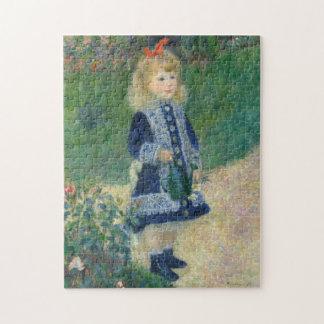 Augusteルノアール著じょうろを持つ女の子 ジグソーパズル