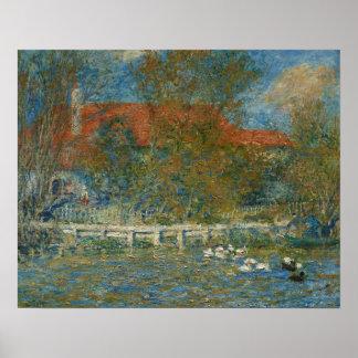Augusteルノアール-アヒルの池 ポスター