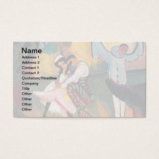 Auguste Macke -ステージのロシアのなバレエダンサー 名刺