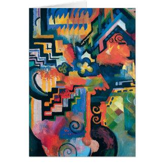 Auguste Macke - Bachの抽象的な近代美術への尊敬 カード