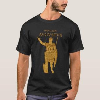 Augustusの彫像の金ゴールドのTシャツ Tシャツ