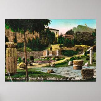 Augustus 1935年のSusaの城そしてアーチ ポスター