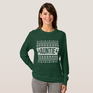 Auntie Ugly Christmas Sweater Tシャツ