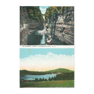 Ausableの溝およびSaranac湖の眺め キャンバスプリント