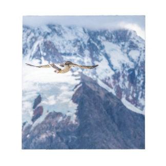 Austral Patagonian鳥の飛行 ノートパッド