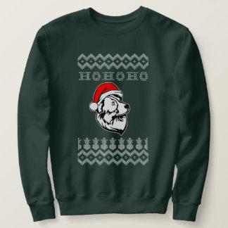 Australian Shepherd Dog Ugly Christmas Ho Ho Ho スウェットシャツ