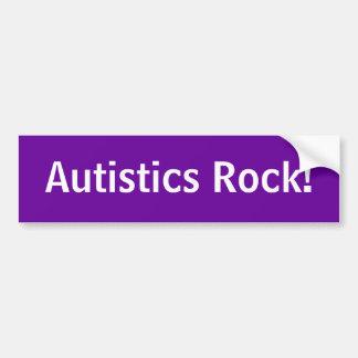 Autisticsの石! バンパーステッカー