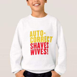 Autocorrectは妻、カスタムな背景色を剃ります スウェットシャツ