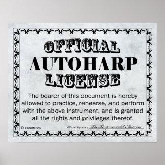 Autoharp免許証 ポスター