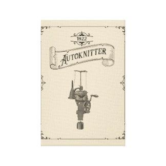 Autoknitter旧式な円のSockknitting機械 キャンバスプリント