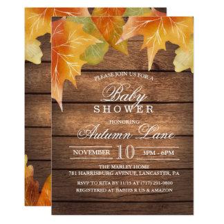 Autumn Baby Shower Invitation カード