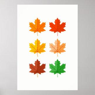Autumn leaves Wall Art ポスター