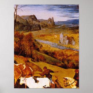 Autumn', Pieter Brueghel_Dutchのマスター ポスター