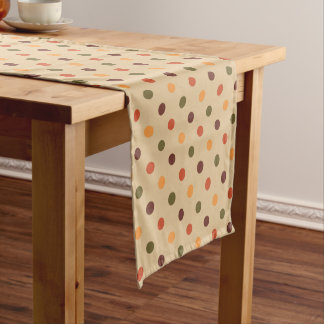 Autumn Polka Dot Table Runner ショートテーブルランナー