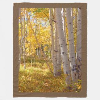 Autumn Woods Lap Warmer フリースブランケット