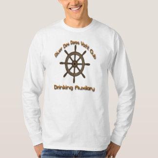 Auxilaryを飲んでいる川Desペレスのヨットクラブ Tシャツ