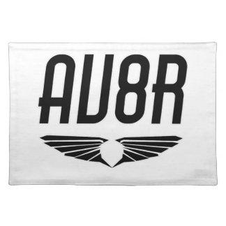AV8R -飛行士及びパイロットの翼のデザイン ランチョンマット