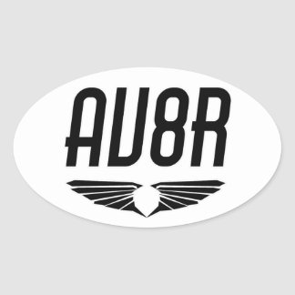 AV8R -飛行士及びパイロットの翼のデザイン 楕円形シール