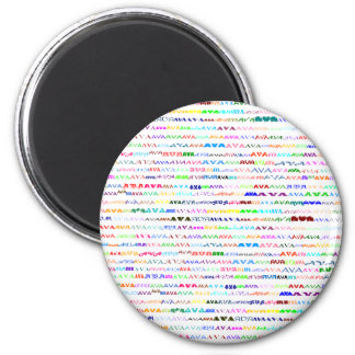 Avaの文字デザインなII円形の磁石 マグネット
