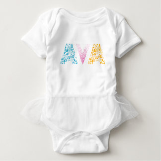 Avaの音名 ベビーボディスーツ