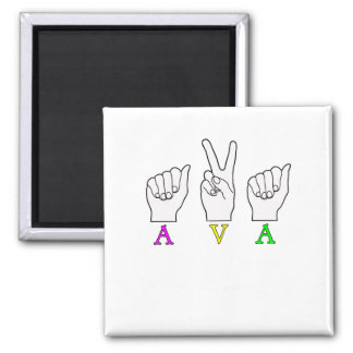 AVA一流ASL FINGERSPELLEDの印 マグネット