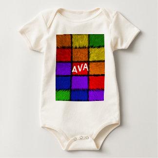 AVA (女性の名前) ベビーボディスーツ