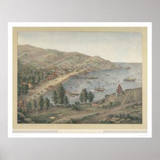Avalon港、サンタCatalinaの島(1211年)の眺め ポスター