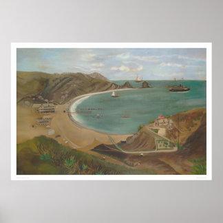 Avalon湾、サンタCatalinaの島(1212年) ポスター