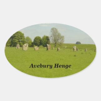 Avebury Henge -イギリス 楕円形シール