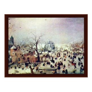 Avercamp Hendrik著冬の景色 ポストカード