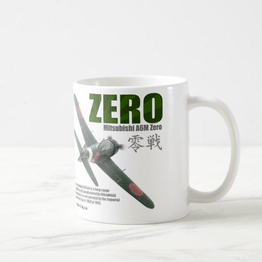 "Aviation Art mug ""A6M ""Zero""""零戦 コーヒーマグカップ"