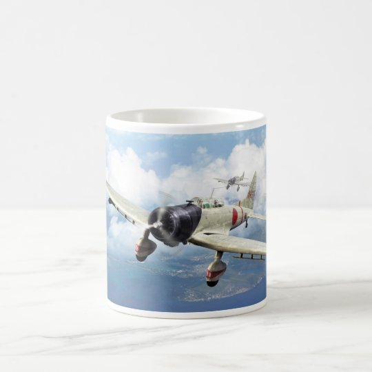 "Aviation Art Mug ""Aichi D3A  ""Val"" コーヒーマグカップ"