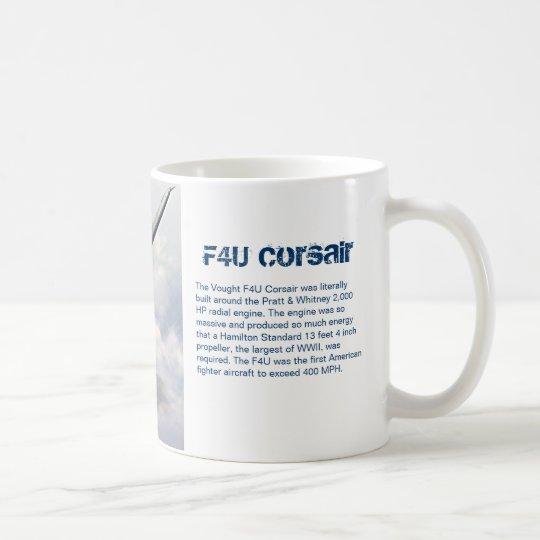 "Aviation art mug ""F4U Corsair"" コーヒーマグカップ"