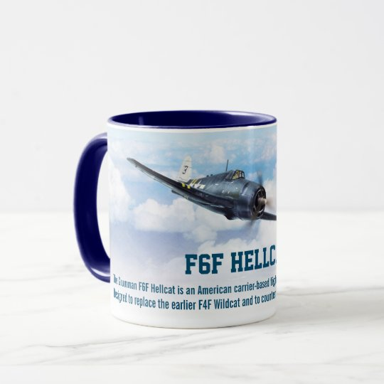 "Aviation Art Mug ""F6F Hellcat"" マグカップ"