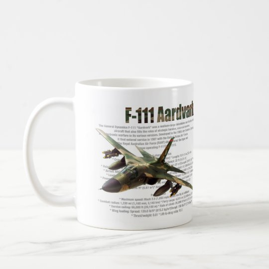 "Aviation Art mug ""F-111 Aardvark"" コーヒーマグカップ"