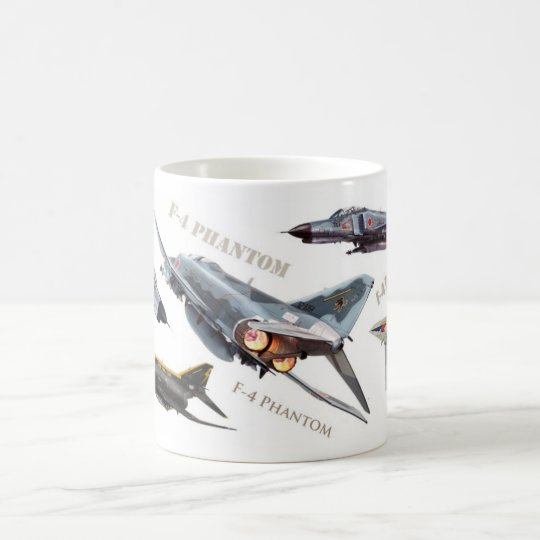 "Aviation Art Mug ""F-4 Phantom"" コーヒーマグカップ"