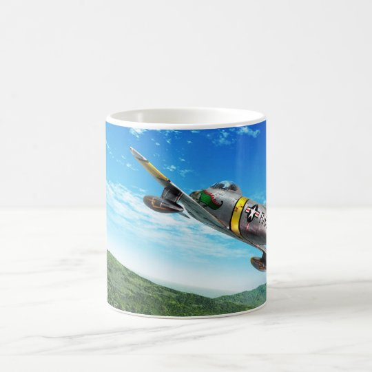 "Aviation Art Mug ""F-86 Sabre"" コーヒーマグカップ"