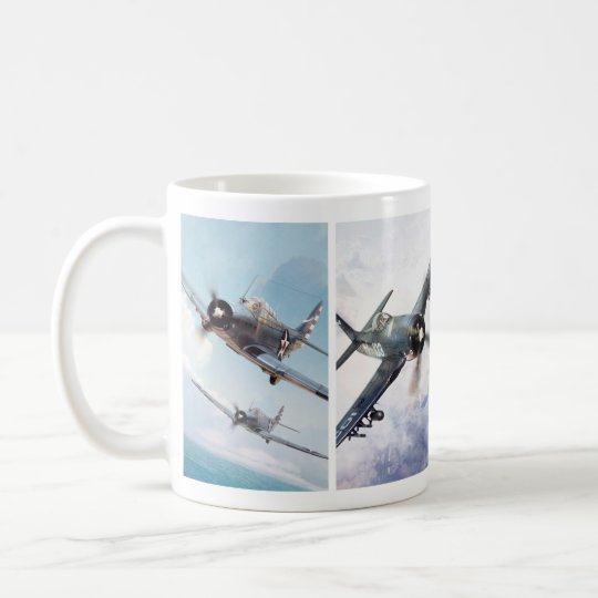 "Aviation Art Mug ""Fighter of World War II"" コーヒーマグカップ"