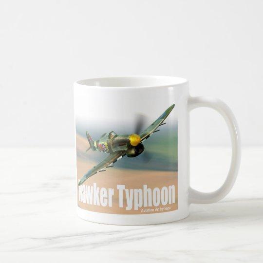 "Aviation Art Mug ""Hawker Typhoon"" コーヒーマグカップ"