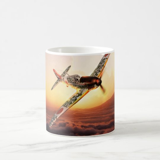 "Aviation Art mug ""Kawasaki Ki-61 Hien ""Tony"" コーヒーマグカップ"