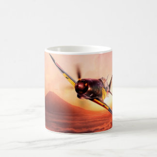"Aviation Art Mug ""Mitsubishi J2M 雷電 Jack"" コーヒーマグカップ"