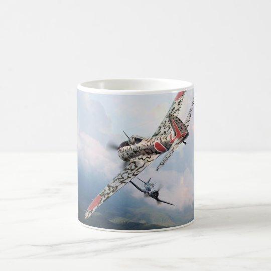 """Aviation Art mug  """"Nakajima Ki-43 隼 Oscar"""" コーヒーマグカップ"""