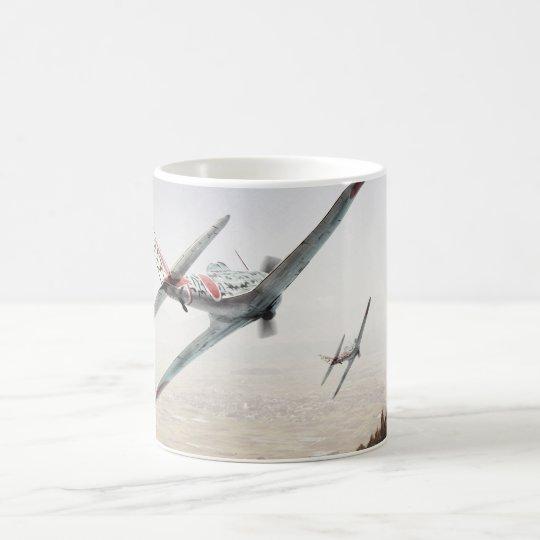 "Aviation Art mug ""Nakajima Ki-43 Hayabusa Oscar"" コーヒーマグカップ"