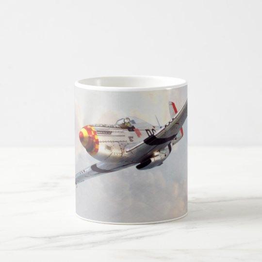 "Aviation art mug ""P-51D Mustang"" コーヒーマグカップ"