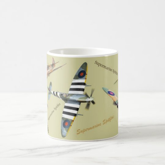 "Aviation Art Mug ""Supermarine Spitfire"" コーヒーマグカップ"