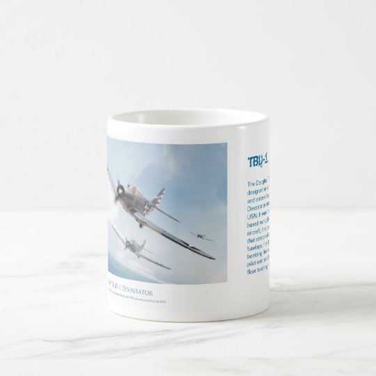 "Aviation art mug ""TBD-1 Devastator"" コーヒーマグカップ"