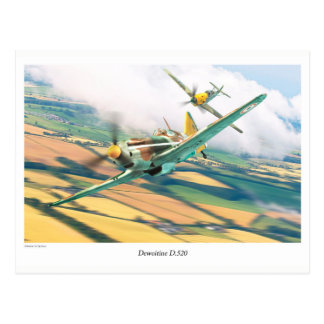 "Aviation Art Postcard ""Dewoitine D.520"" ポストカード"