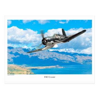 """Aviation Art Postcard """"F4U Corsair"""" ポストカード"""